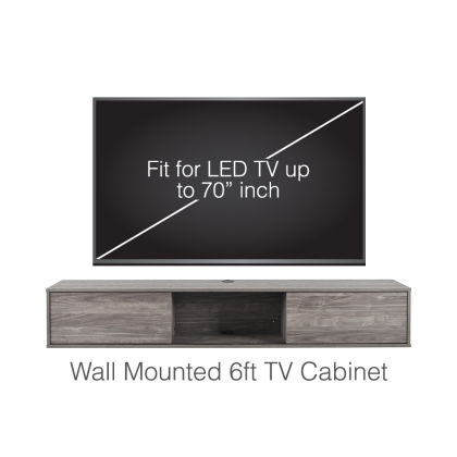 Wall Mounted 6ft TV Cabinet
